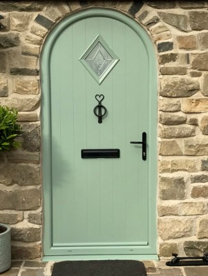 arched cottage door
