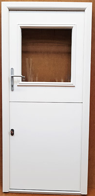 white stable door with centred glass